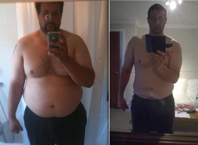 89 lbs Fat Loss Before and After 6'4 Male 366 lbs to 277 lbs