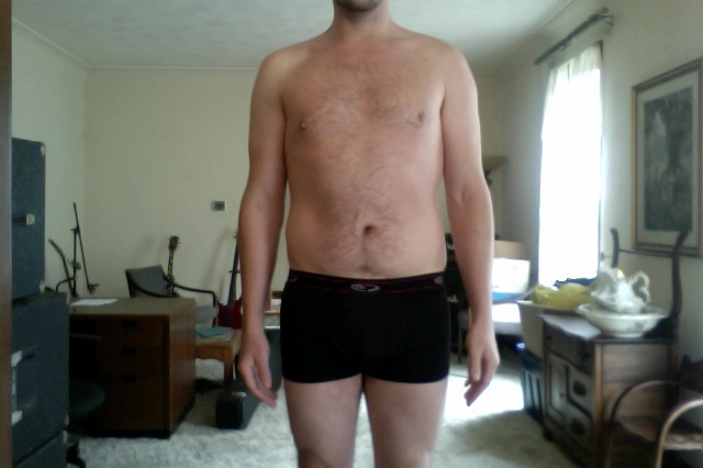 4 Pictures of a 195 lbs 5'11 Male Weight Snapshot