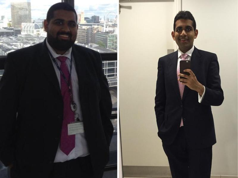 Before and After 106 lbs Fat Loss 5 feet 9 Male 273 lbs to 167 lbs