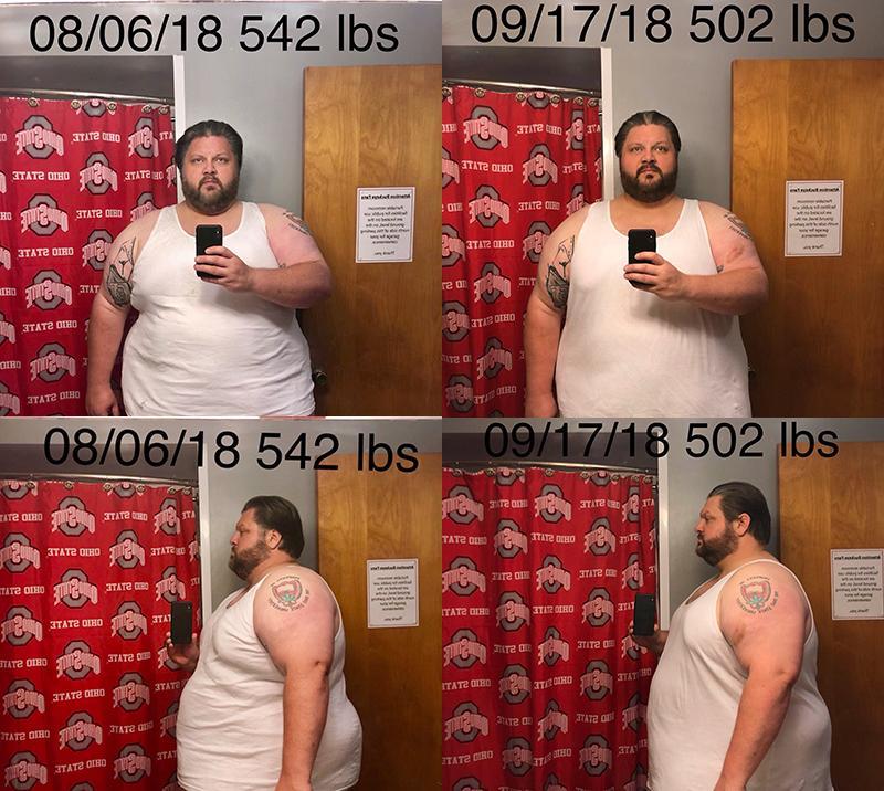 6 feet 1 Male 40 lbs Weight Loss 542 lbs to 502 lbs