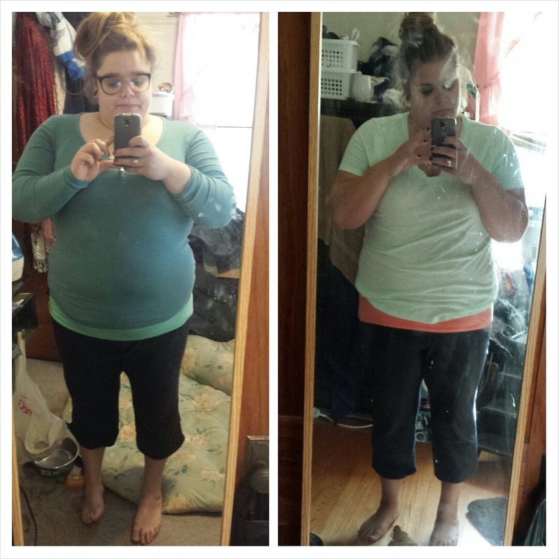 32 lbs Fat Loss Before and After 5 foot Female 320 lbs to 288 lbs
