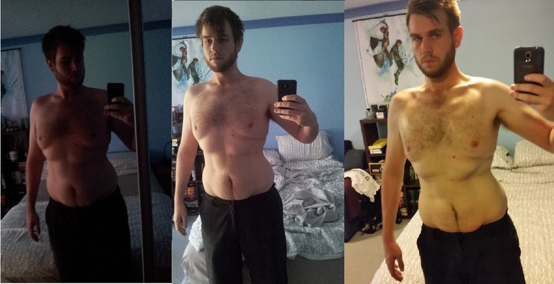44 lbs Fat Loss Before and After 6 foot 4 Male 242 lbs to 198 lbs