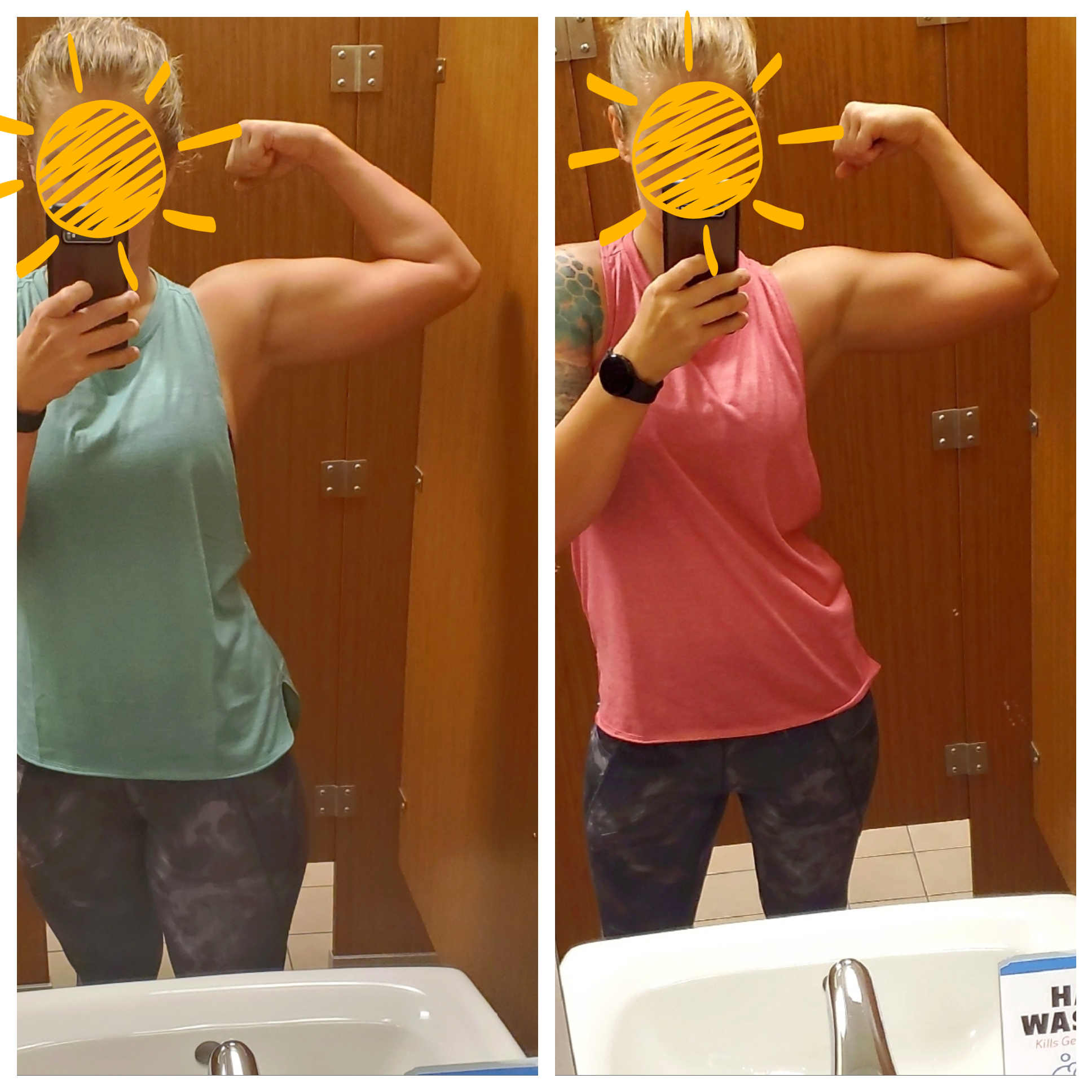 11 lbs Weight Loss Before and After 5 feet 8 Female 160 lbs to 149 lbs