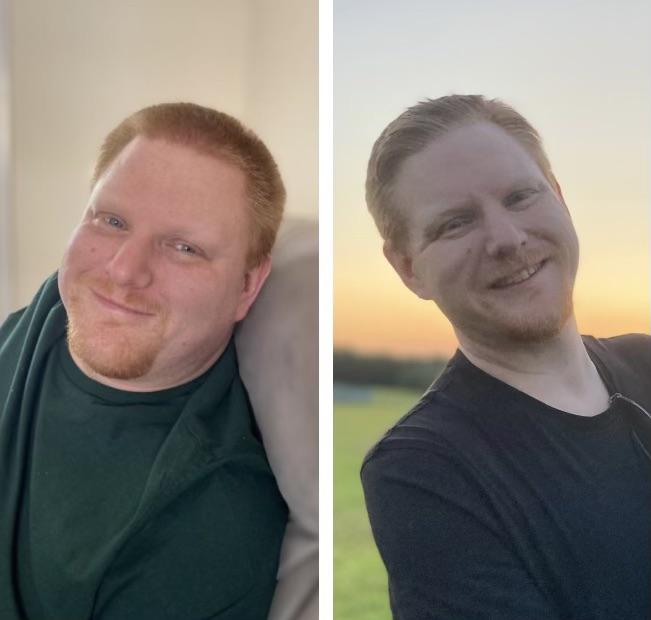 6 foot 2 Male 69 lbs Weight Loss Before and After 256 lbs to 187 lbs