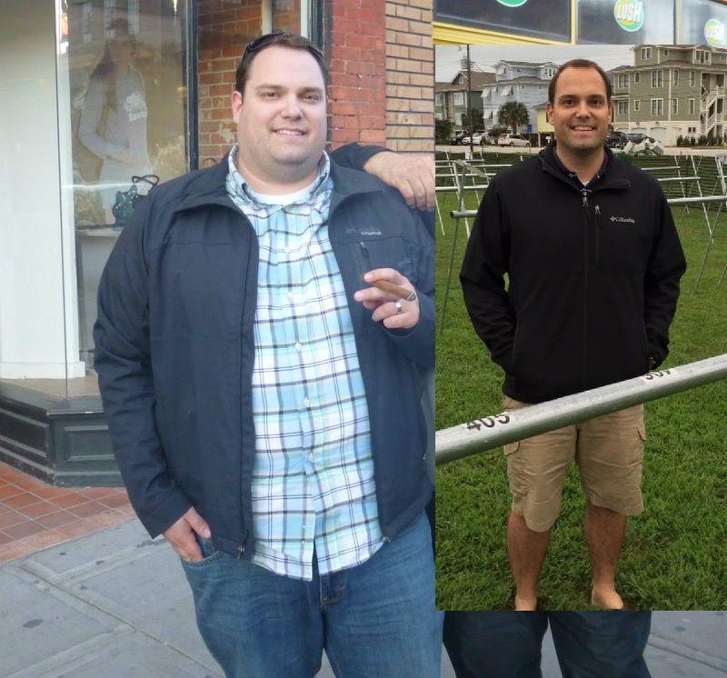 107 lbs Weight Loss 5 feet 10 Male 320 lbs to 213 lbs