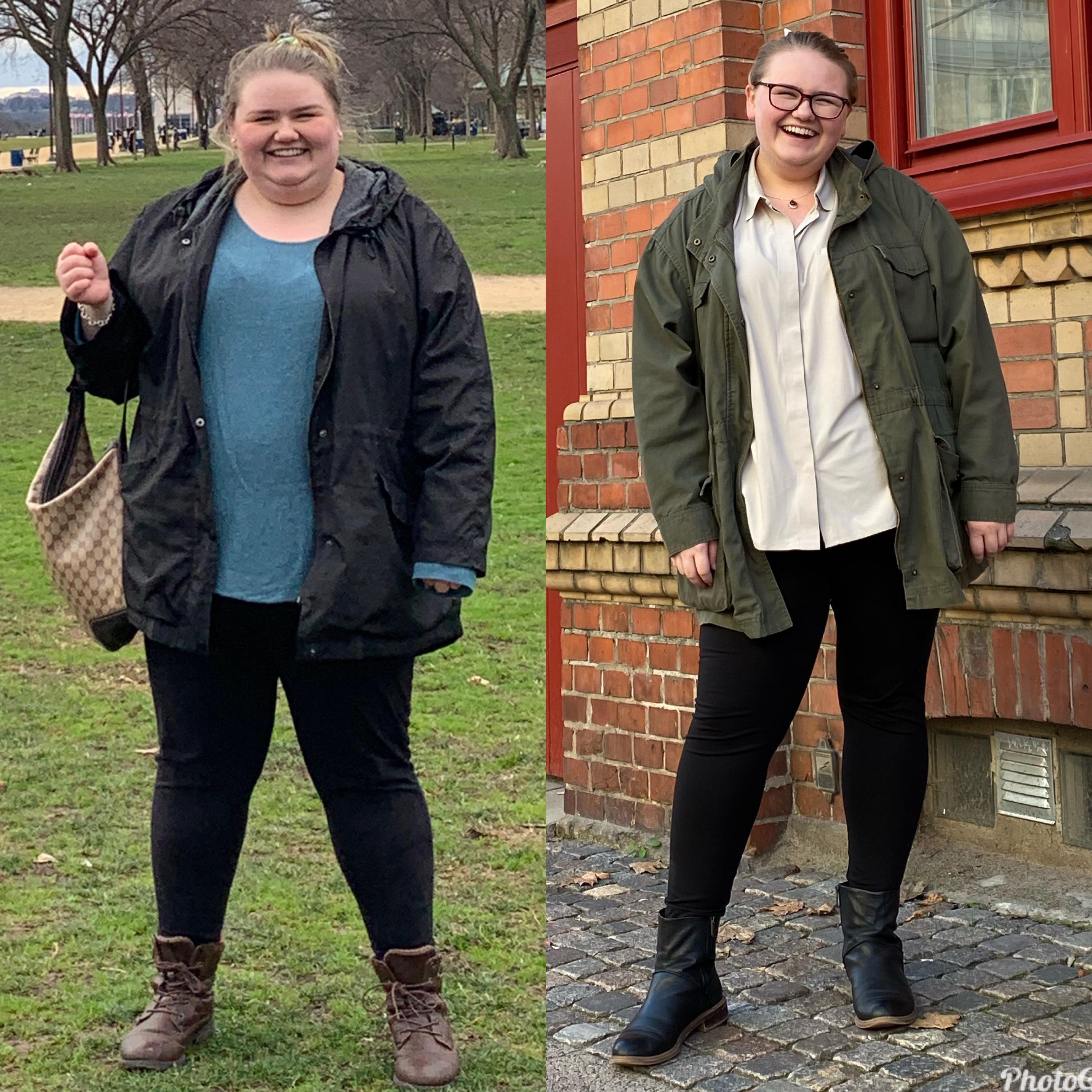 Progress Pics of 90 lbs Fat Loss 5'7 Female 350 lbs to 260 lbs