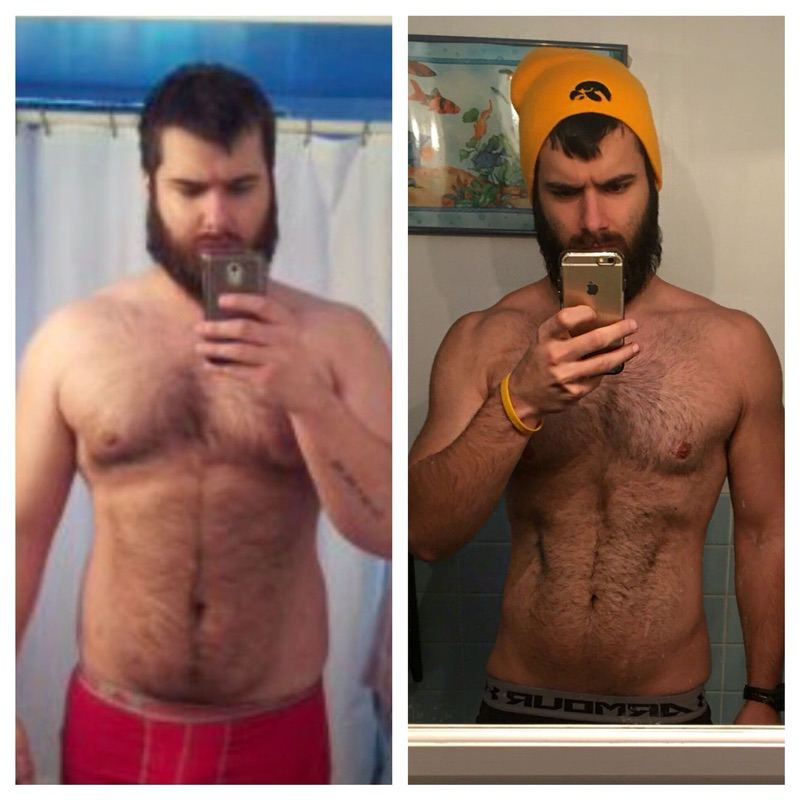 Before and After 81 lbs Weight Loss 6 feet 1 Male 272 lbs to 191 lbs
