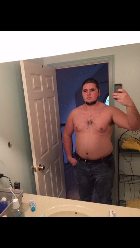 6'3 Male Progress Pics of 50 lbs Weight Loss 300 lbs to 250 lbs