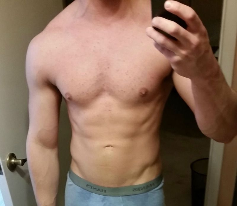 15 lbs Muscle Gain Before and After 5 foot 9 Male 165 lbs to 180 lbs