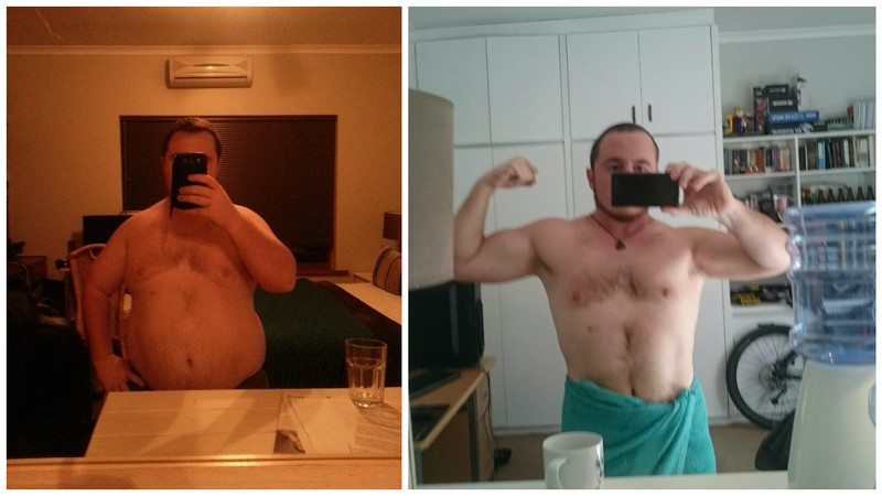 5'3 Male 55 lbs Fat Loss Before and After 216 lbs to 161 lbs