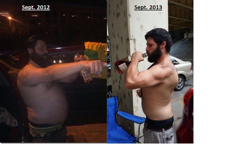 5 foot 11 Male Progress Pics of 63 lbs Fat Loss 258 lbs to 195 lbs