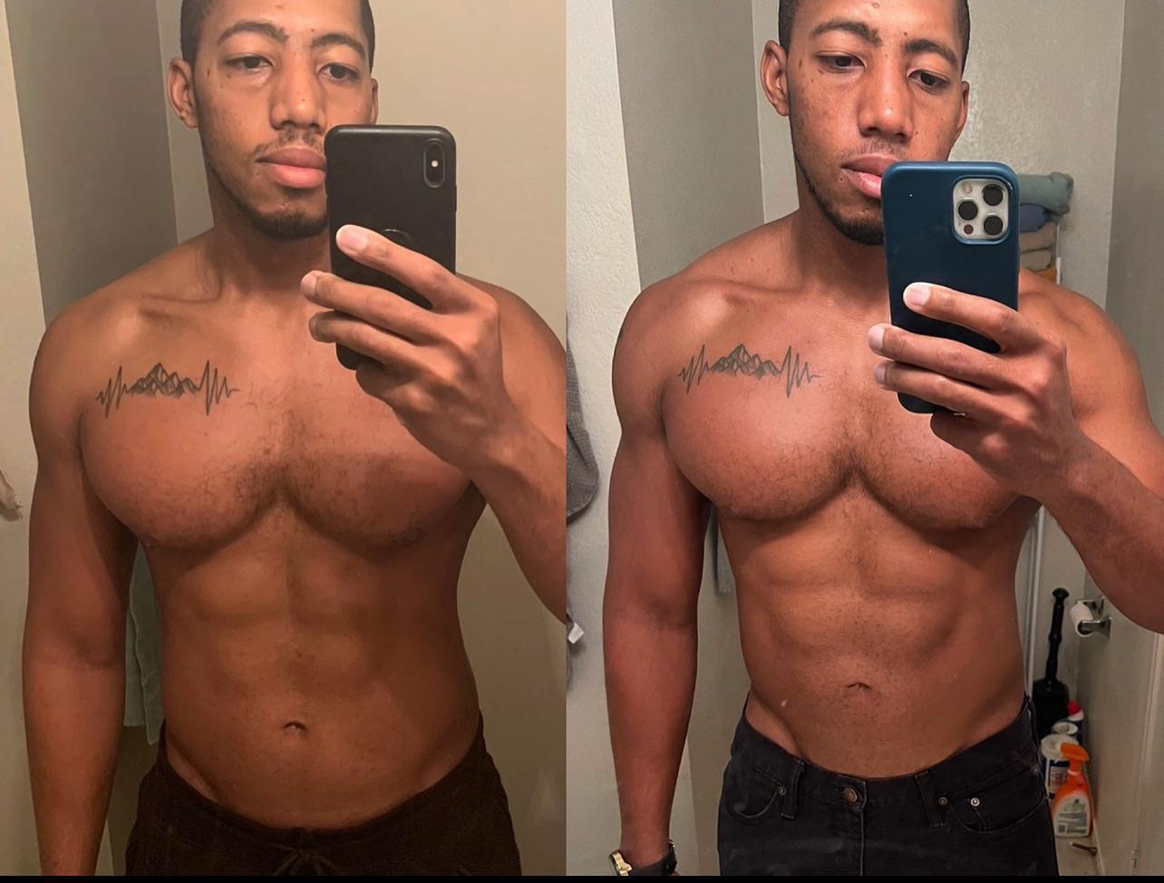 24 lbs Muscle Gain 6 foot Male 199 lbs to 223 lbs
