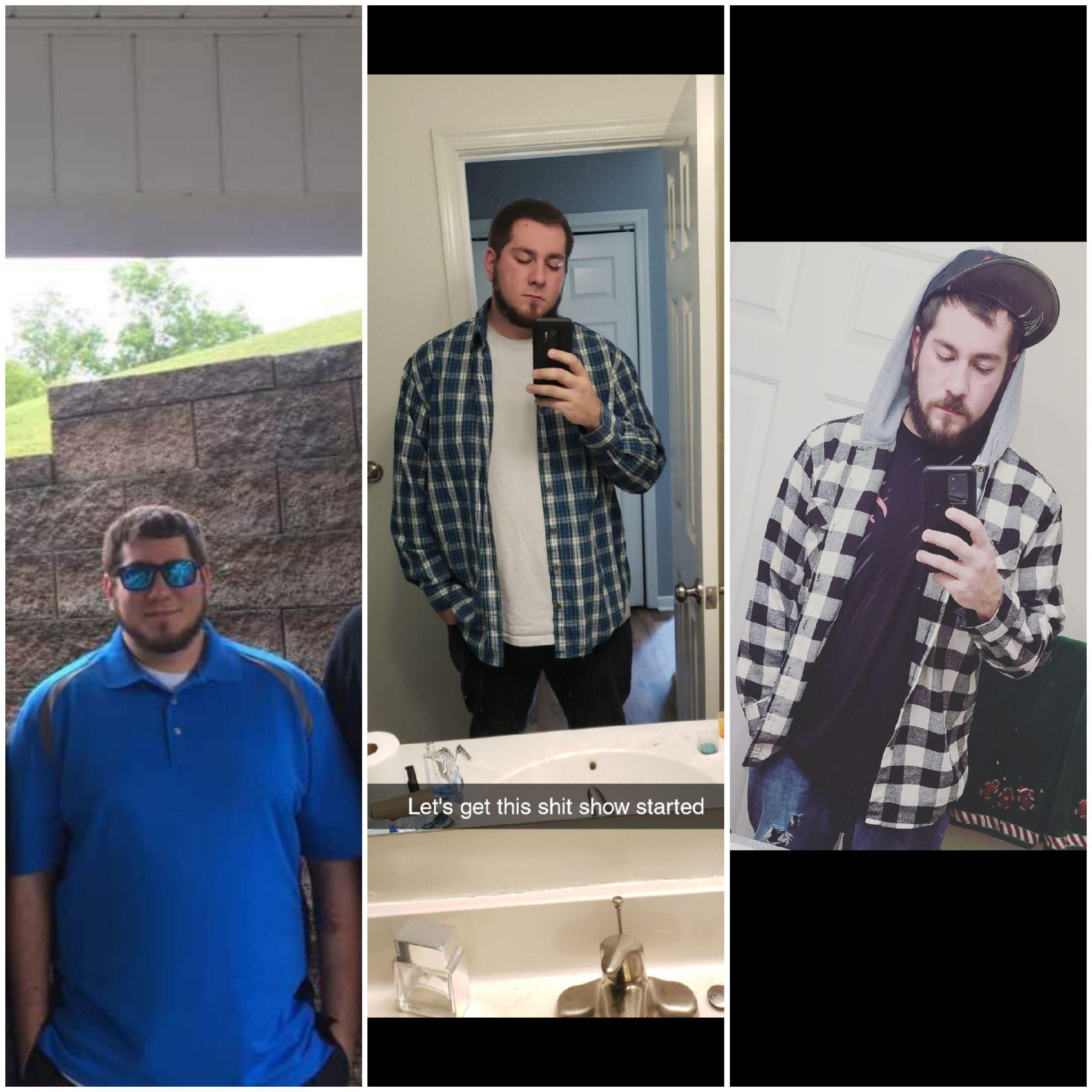 6 foot 3 Male 125 lbs Weight Loss Before and After 365 lbs to 240 lbs