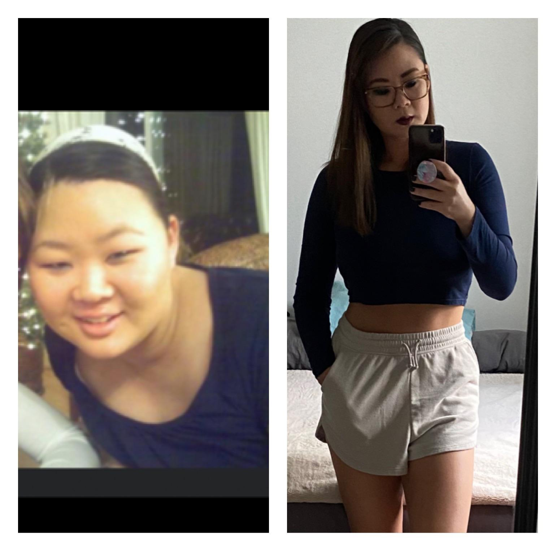 46 lbs Fat Loss 5 feet 4 Female 185 lbs to 139 lbs