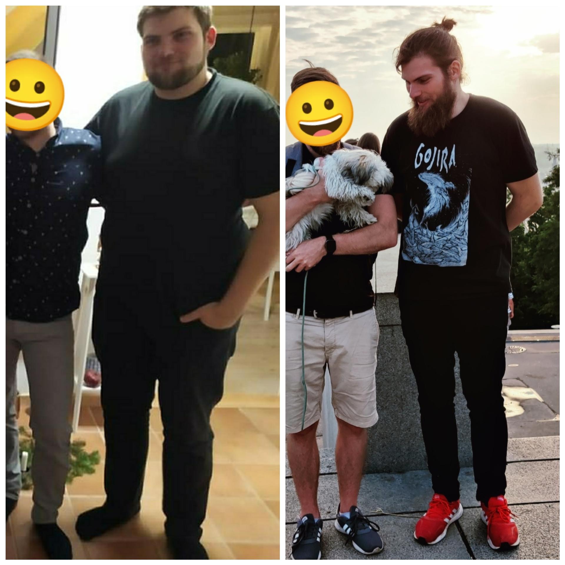 Progress Pics of 127 lbs Weight Loss 6'2 Male 318 lbs to 191 lbs
