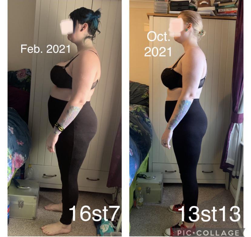Progress Pics of 36 lbs Fat Loss 5'8 Female 231 lbs to 195 lbs