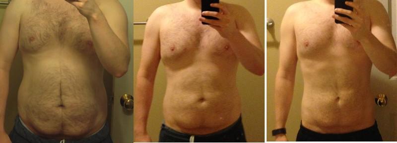 5 feet 7 Male Progress Pics of 35 lbs Fat Loss 190 lbs to 155 lbs