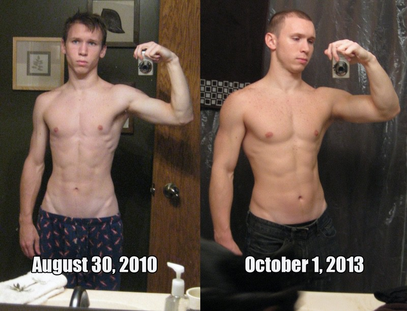 5 foot 5 Male 30 lbs Muscle Gain Before and After 105 lbs to 135 lbs