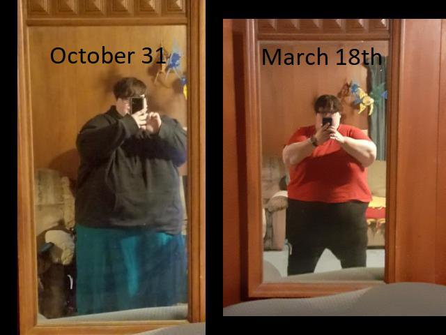 5'5 Female 105 lbs Fat Loss Before and After 580 lbs to 475 lbs