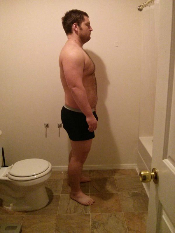5 Pictures of a 6 foot 276 lbs Male Weight Snapshot