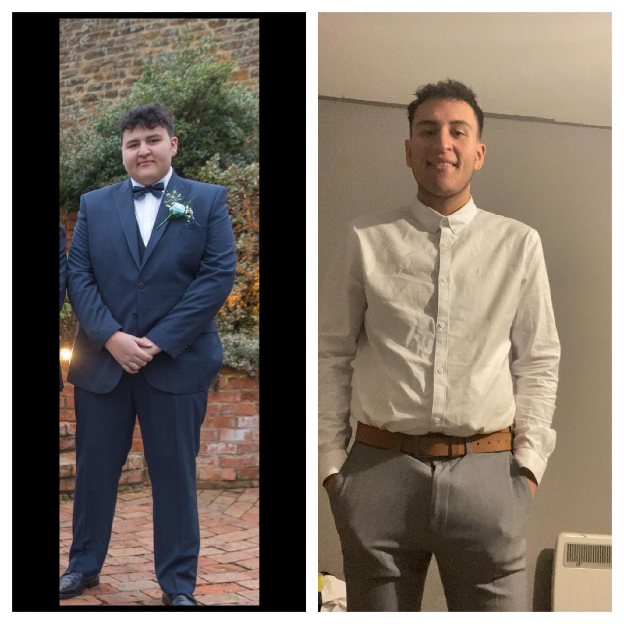 123 lbs Fat Loss Before and After 6 feet 4 Male 325 lbs to 202 lbs