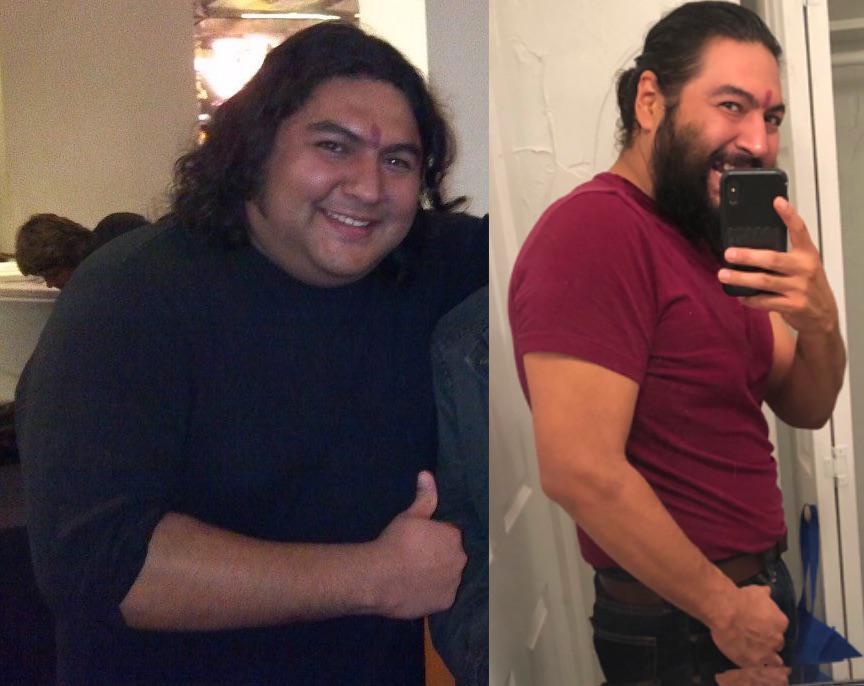 Progress Pics of 70 lbs Weight Loss 5 feet 10 Male 268 lbs to 198 lbs