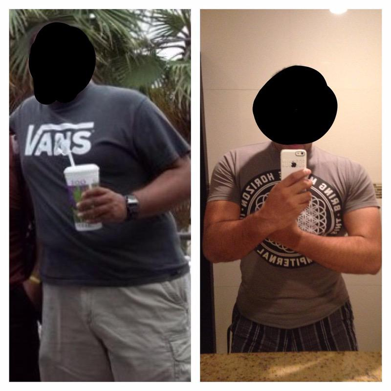 5 feet 11 Male 49 lbs Weight Loss Before and After 305 lbs to 256 lbs