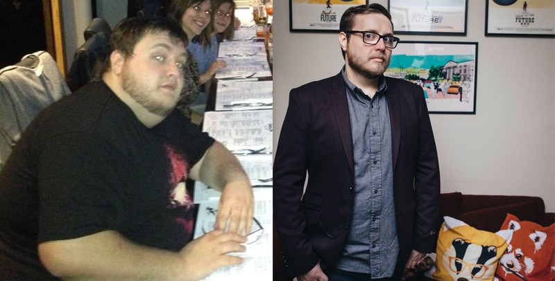 5'10 Male 122 lbs Fat Loss Before and After 348 lbs to 226 lbs