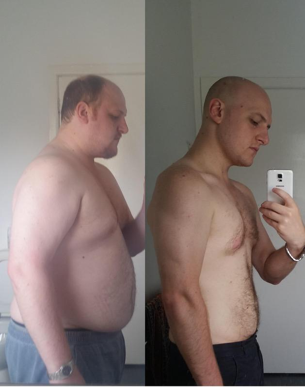 101 lbs Fat Loss Before and After 5'9 Male 285 lbs to 184 lbs