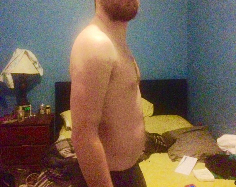 2 Photos of a 191 lbs 6 foot Male Fitness Inspo