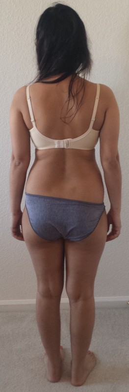 3 Pics of a 117 lbs 5'2 Female Weight Snapshot