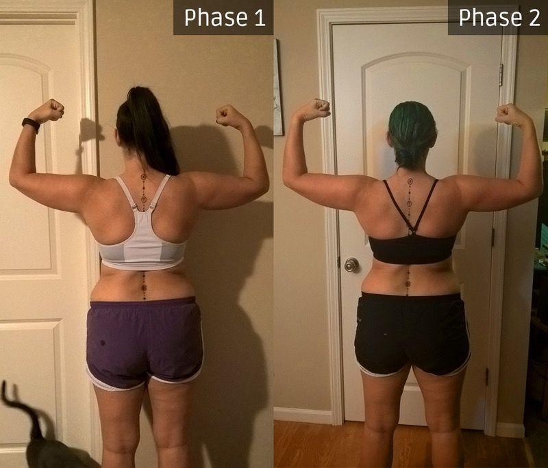 5 foot 6 Female Progress Pics of 6 lbs Fat Loss 180 lbs to 174 lbs