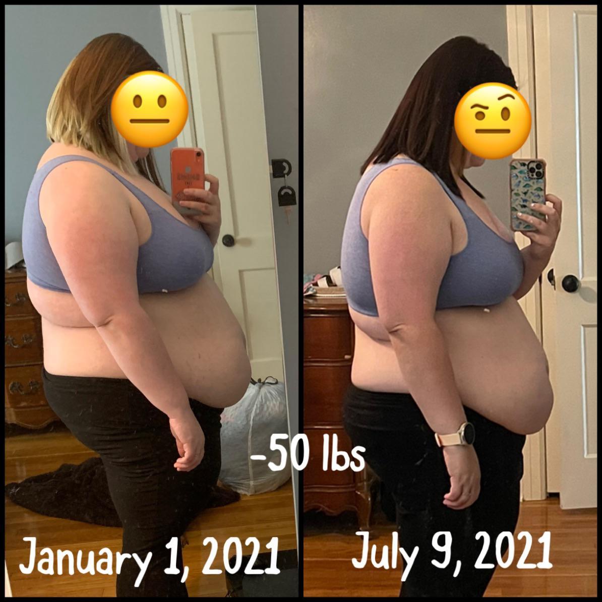 5'4 Female 50 lbs Weight Loss 313 lbs to 263 lbs