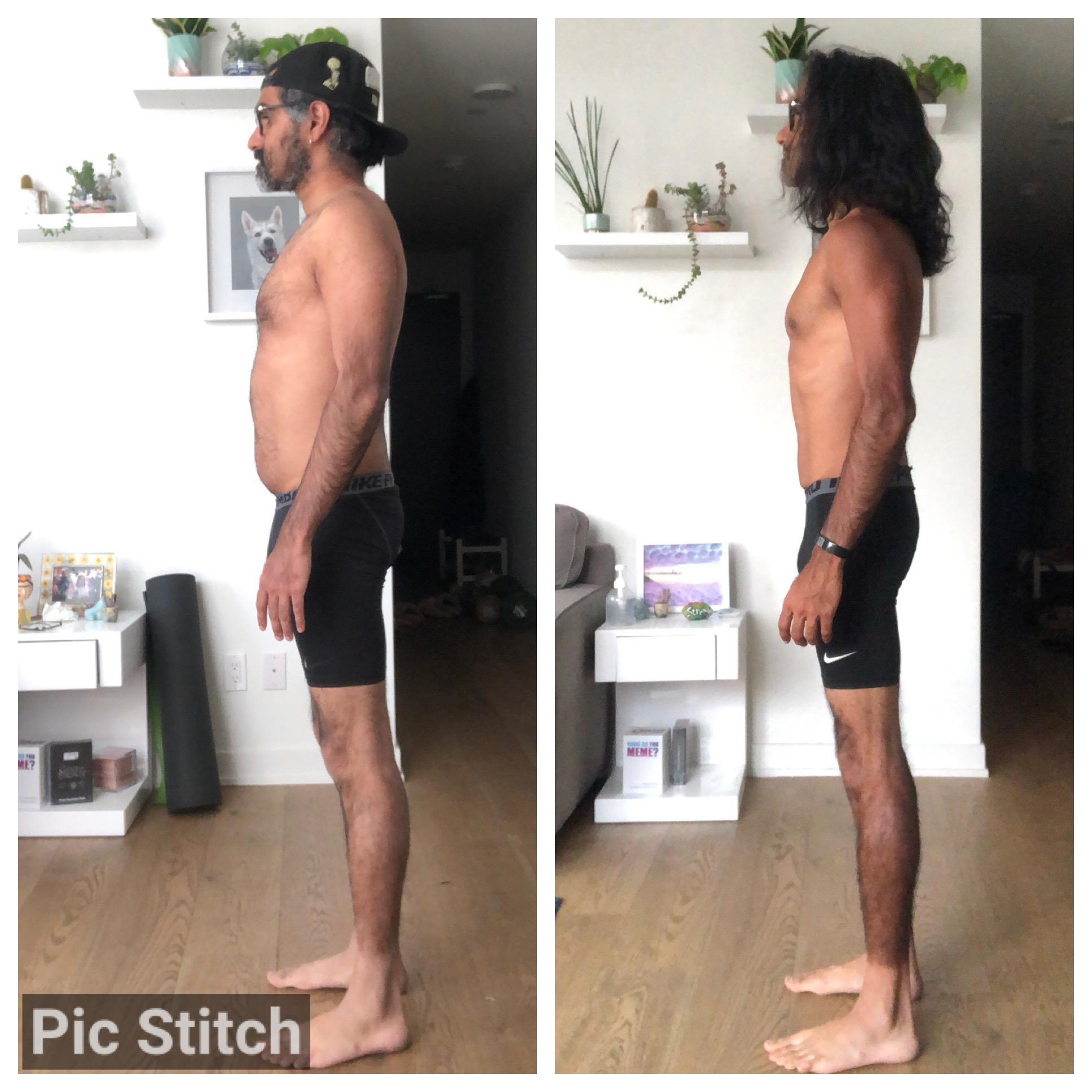5'10 Male Progress Pics of 23 lbs Weight Loss 156 lbs to 133 lbs