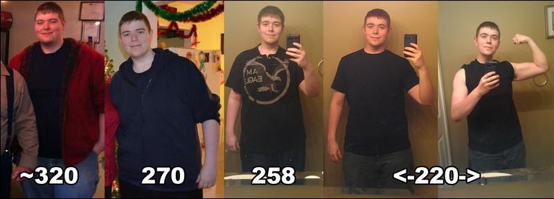 6 foot Male 100 lbs Fat Loss 320 lbs to 220 lbs