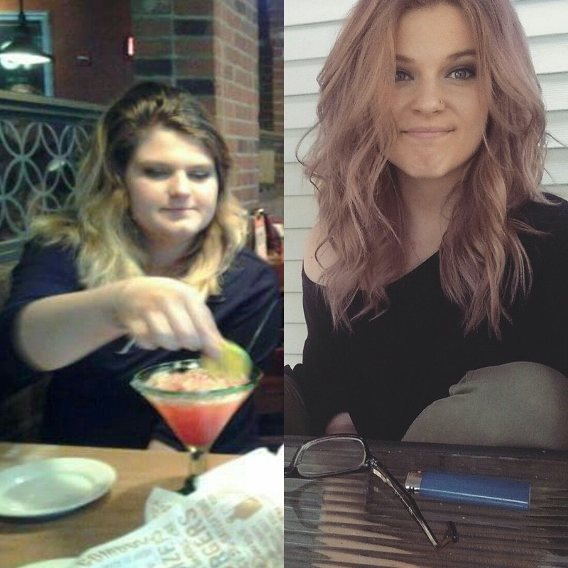 60 lbs Weight Loss Before and After 5 feet 5 Female 190 lbs to 130 lbs