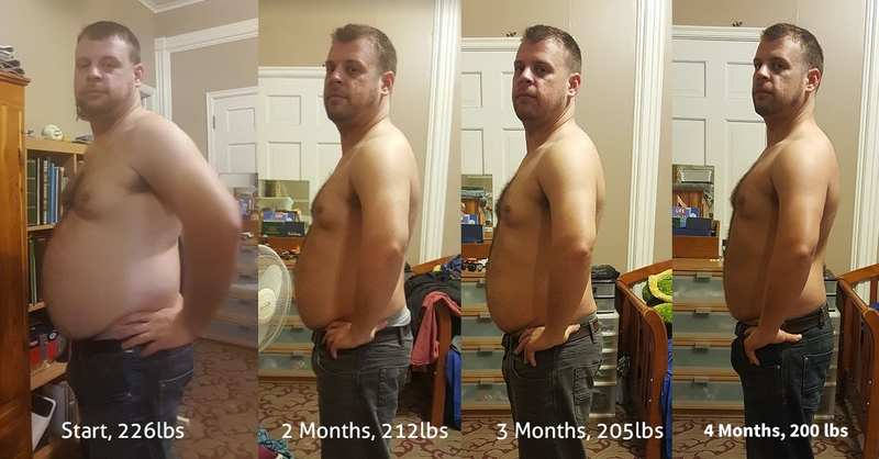 5 feet 7 Male 29 lbs Weight Loss Before and After 229 lbs to 200 lbs