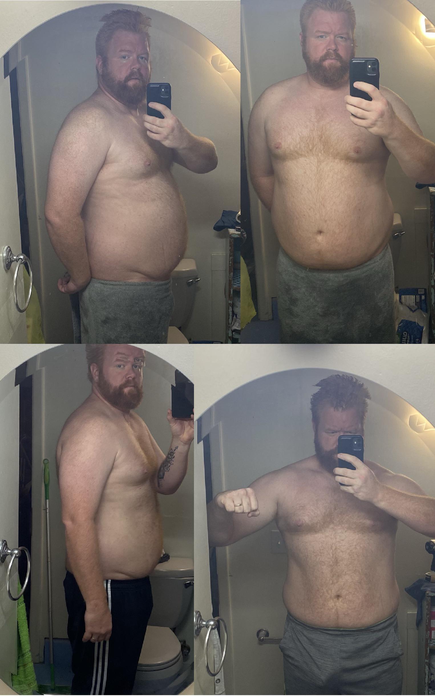 28 lbs Weight Loss 6 foot 2 Male 308 lbs to 280 lbs