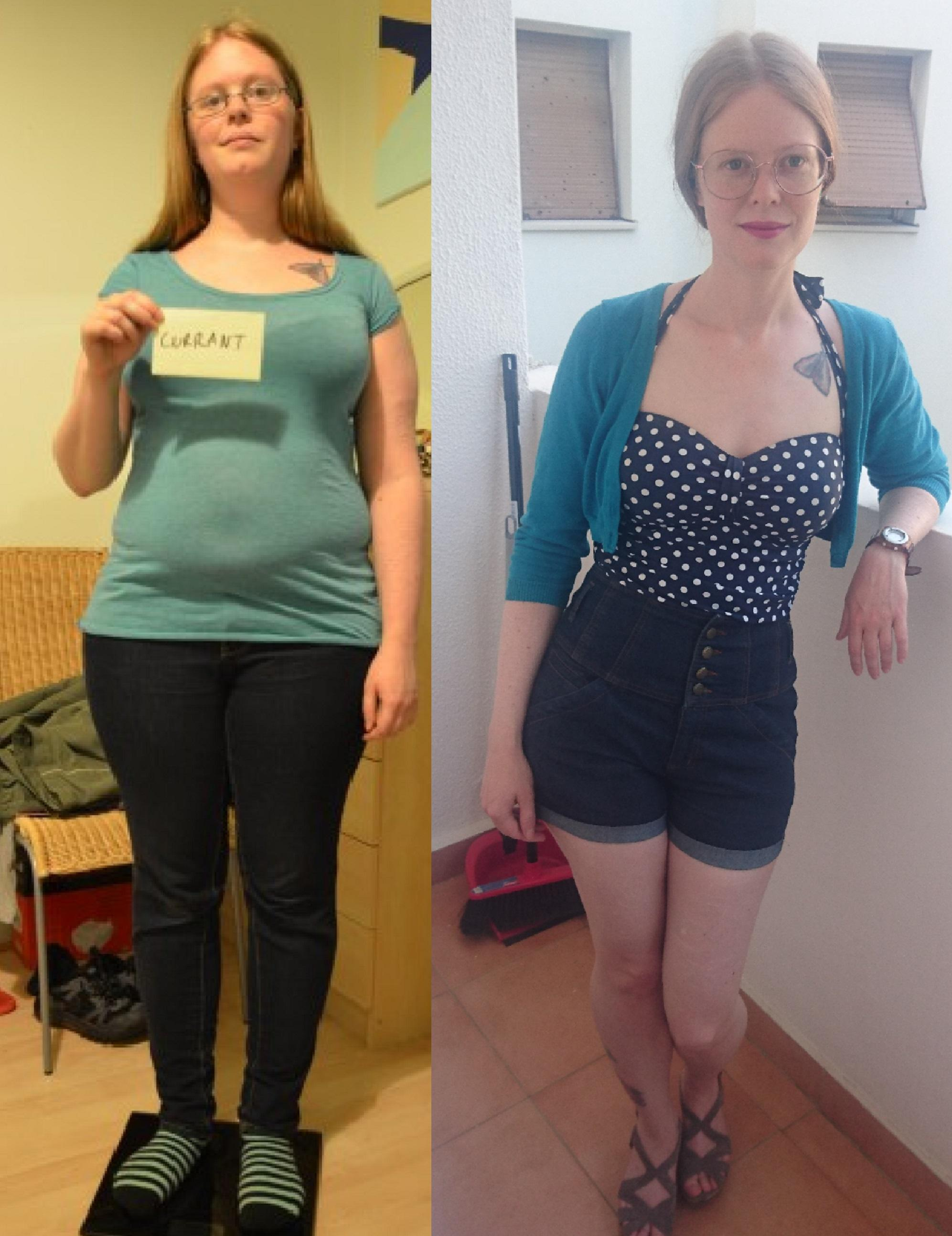 45 lbs Fat Loss Before and After 5 feet 3 Female 163 lbs to 118 lbs