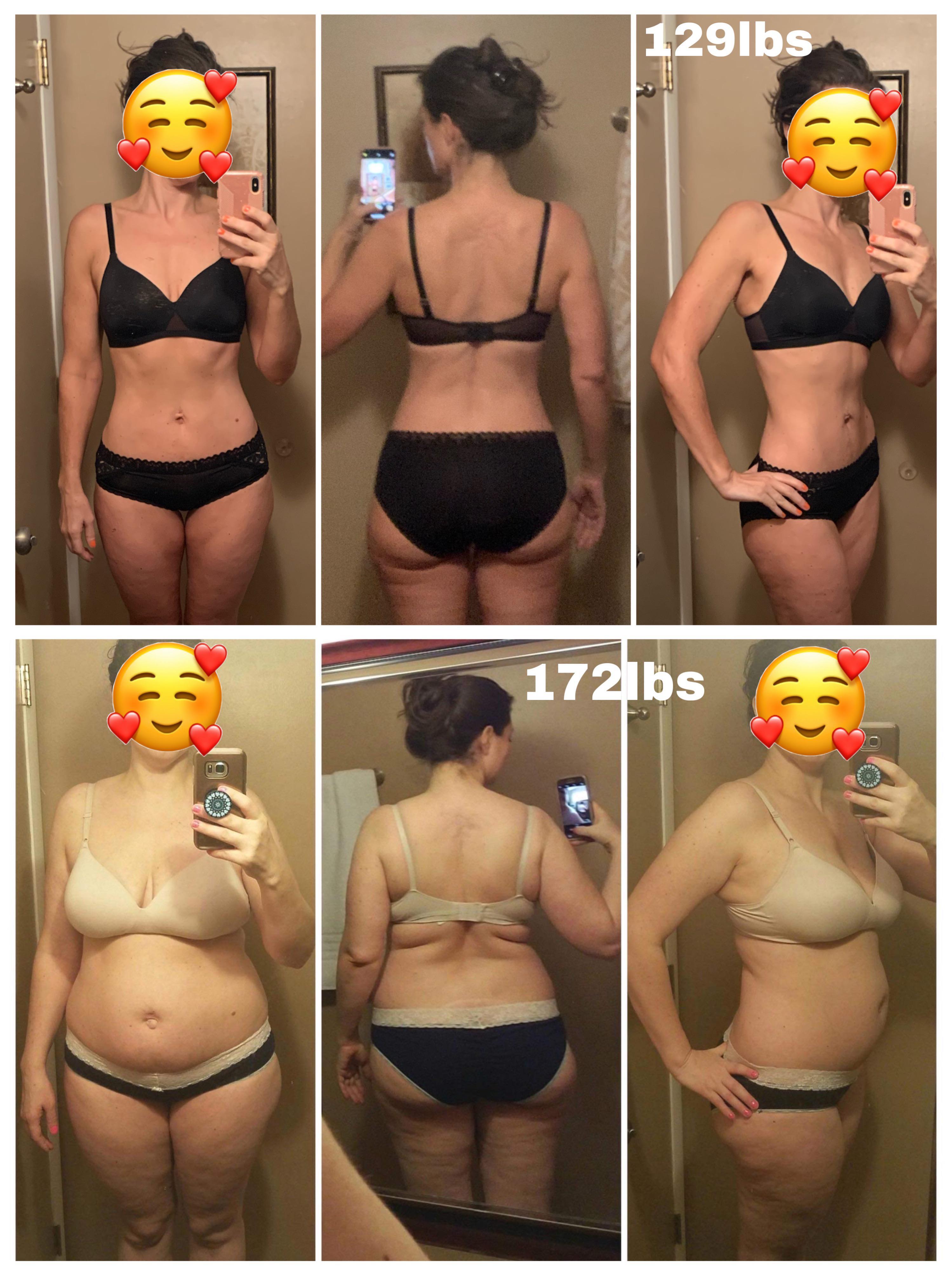 5 feet 6 Female Progress Pics of 43 lbs Weight Loss 172 lbs to 129 lbs