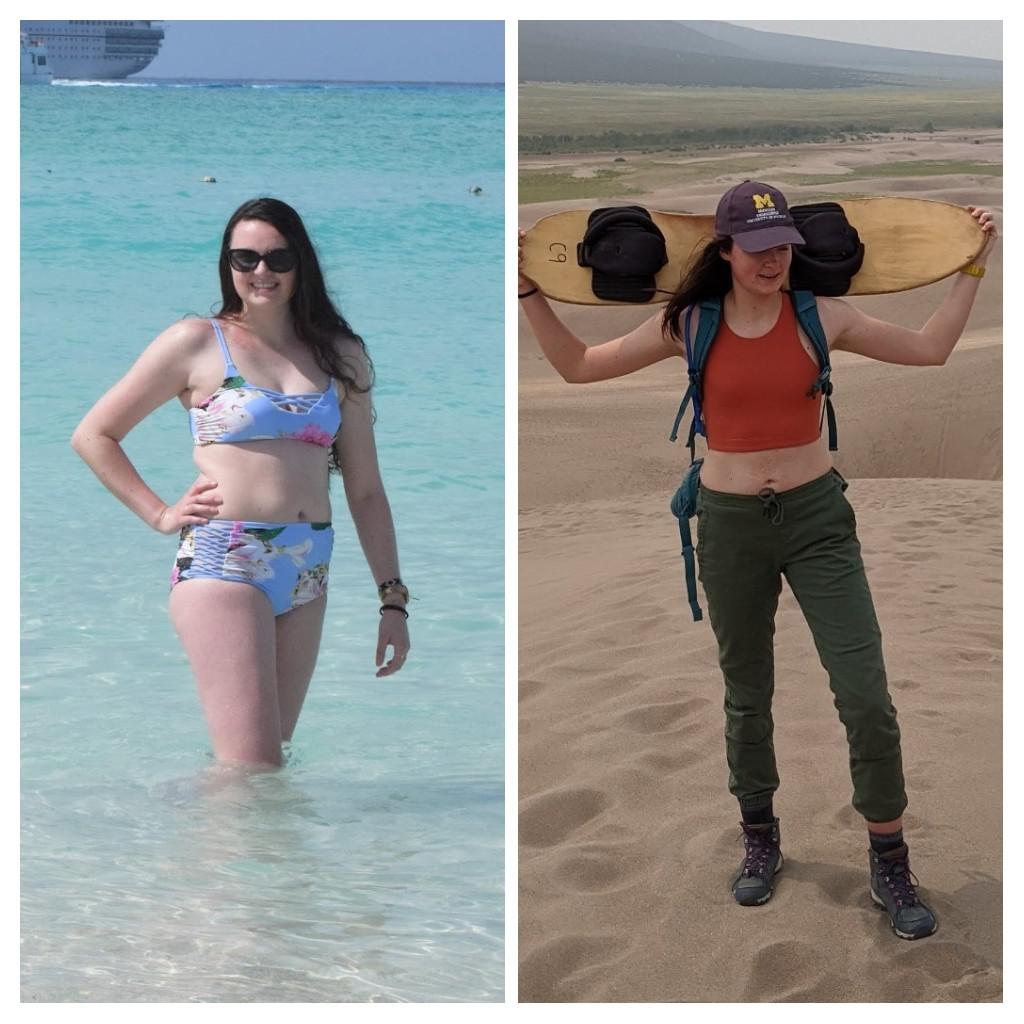 5 feet 10 Female 29 lbs Fat Loss Before and After 168 lbs to 139 lbs