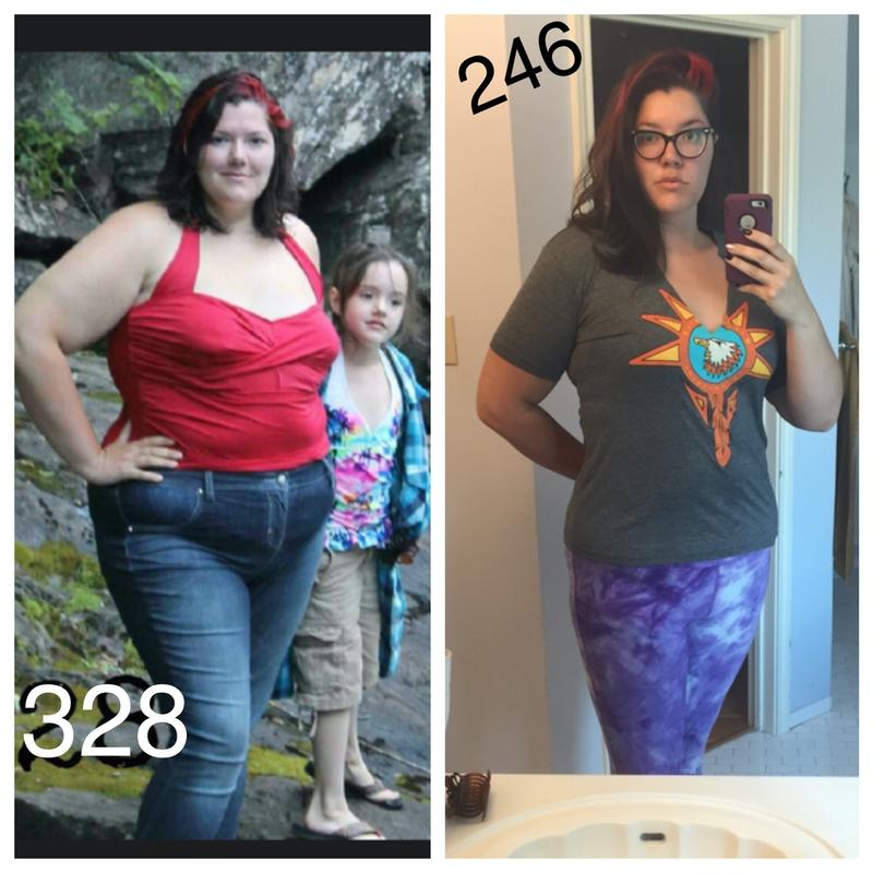 84 lbs Fat Loss 6'4 Female 330 lbs to 246 lbs