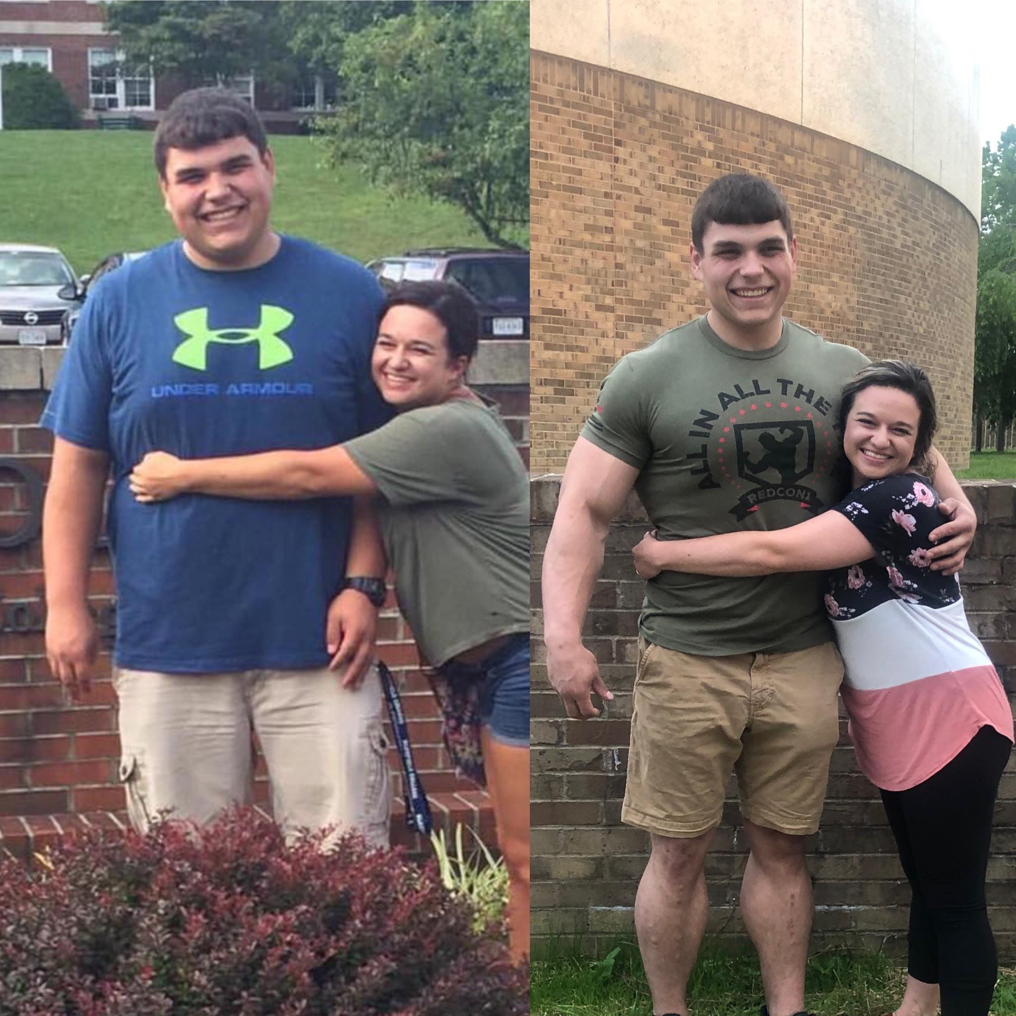 5'10 Male Progress Pics of 95 lbs Fat Loss 320 lbs to 225 lbs