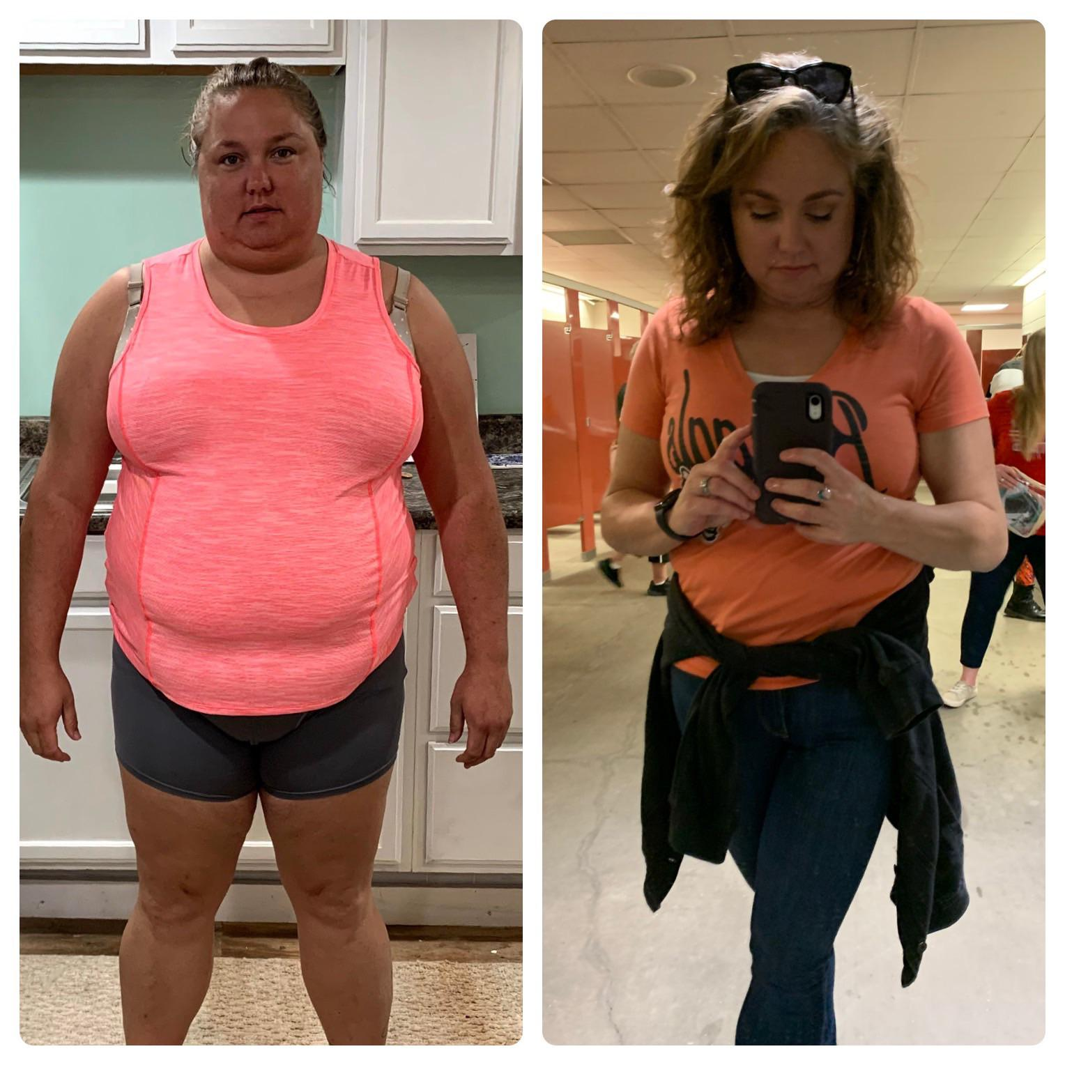 106 lbs Fat Loss Before and After 5'6 Female 285 lbs to 179 lbs