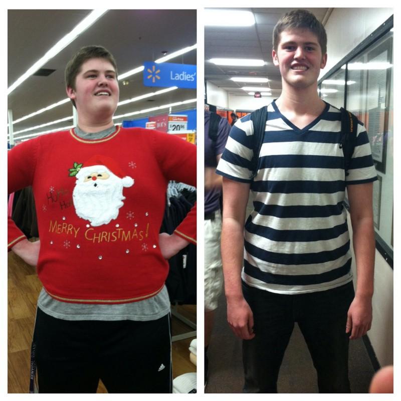 6 feet 5 Male 110 lbs Weight Loss 320 lbs to 210 lbs