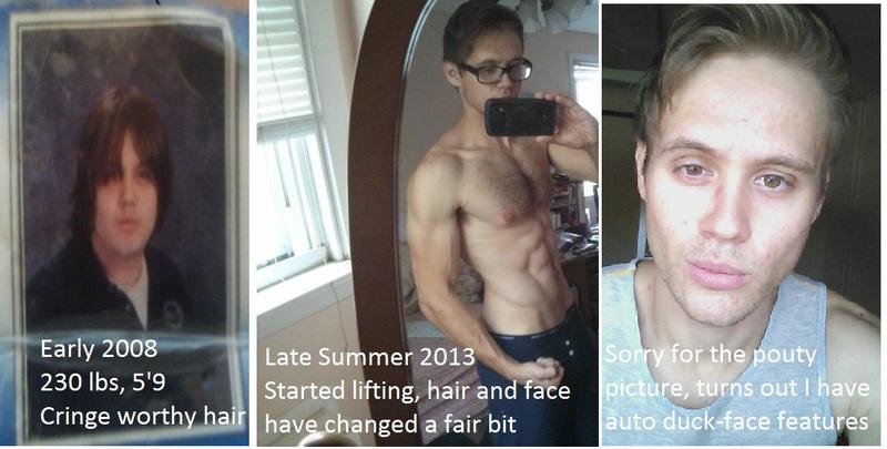 Progress Pics of 75 lbs Weight Loss 5 feet 11 Male 235 lbs to 160 lbs