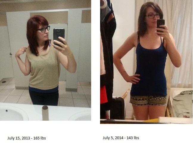 Progress Pics of 22 lbs Weight Loss 5'11 Female 165 lbs to 143 lbs