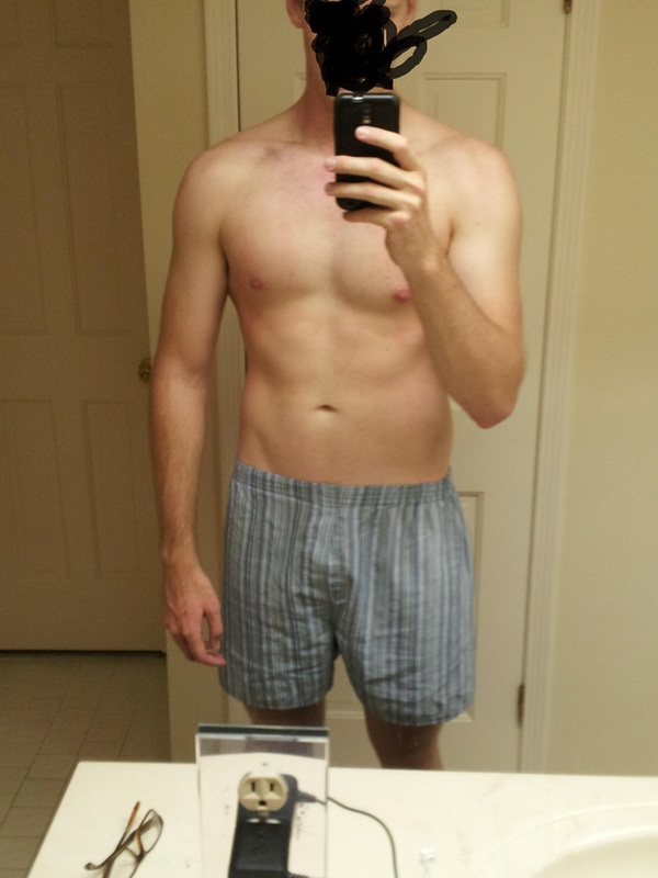 9 lbs Fat Loss Before and After 6 foot 3 Male 200 lbs to 191 lbs