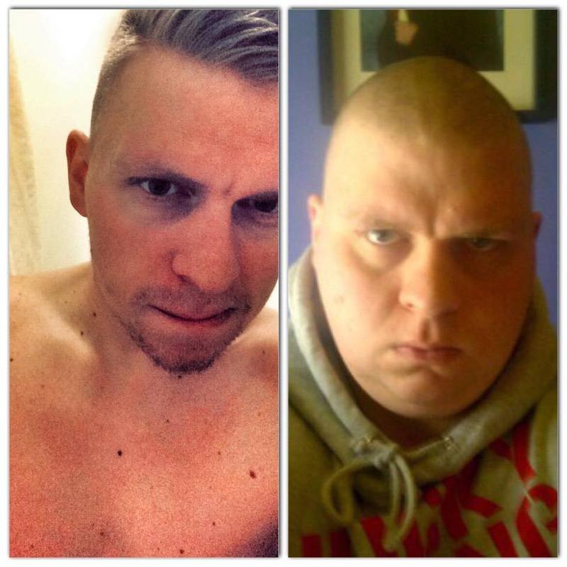 Before and After 127 lbs Weight Loss 5 foot 10 Male 327 lbs to 200 lbs