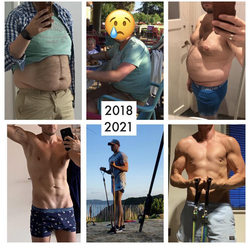 Progress Pics of 93 lbs Fat Loss 5 foot 10 Male 240 lbs to 147 lbs
